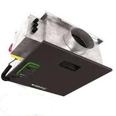 ALDES-Easy-VEC Compact micro-watt 300IP. Ventilateur extra plat en caisson, moteur basse consommation, débit d'air maximum 450 m3/h. - 400x400px