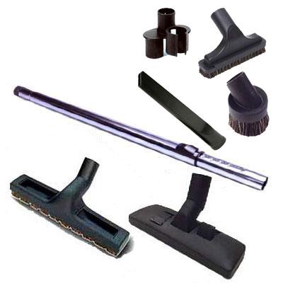 Set 7 accessoires RETRAFLEX 1 Brosse combinee 1 Brosse sol dur 300 mm 1 Canne telescopique Chrome perforee   1 sac de 4 accessoires 150x150px