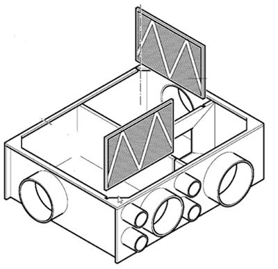 166435 aeroplast unelvent s p filtre pour vmc double. Black Bedroom Furniture Sets. Home Design Ideas