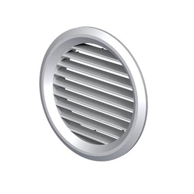 ALDES - grille de reprise ou rejet d'air en plastique GPA128 Ø 100 mm - 400x400px