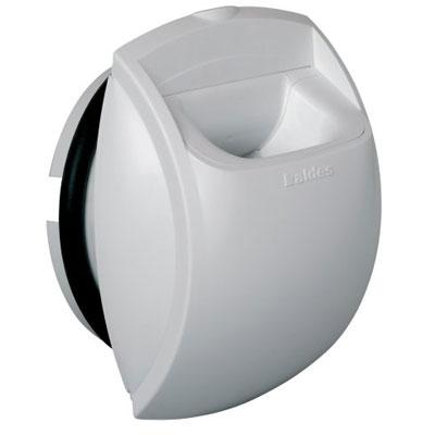 ALDES- Bouche d'extraction autoréglable BAP'SI débit d'air 60m3/h,Ø 125 pour sanitaires collectifs , position mur ou plafond,locaux tertiaires . - 400x400px