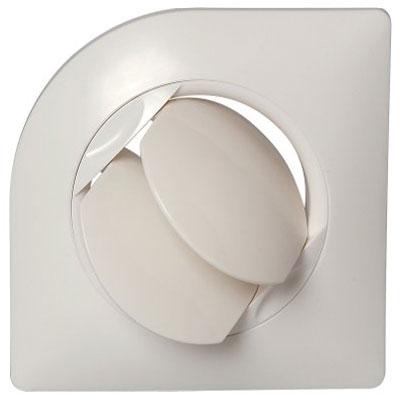 ALDES - Bouche BIO carrée Ø125 autoréglable. Utilisation soufflage d'air en VMC - 400x400px