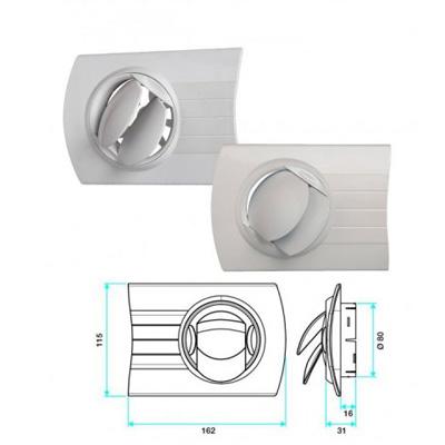 ALDES - Bouche d'insufflation autoréglable BIO DESIGN Ø80 mm rectangulaire en plastique - 400x400px