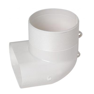 ALDES - Coude mixte 40x100 pour bouche Ø 80 - 400x400px
