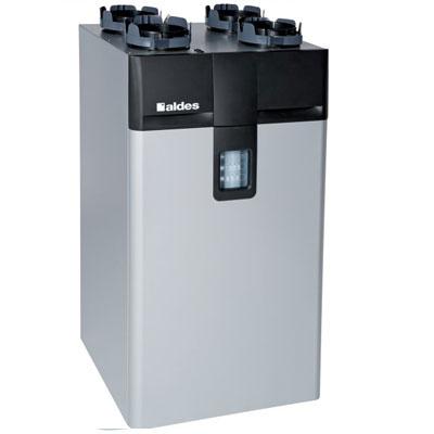 ALDES - Centrale VMC double flux Dee fly Cube 370 microwatt EU bypass été/hiver, hygro. Garantie 2 ans. Maison jusqu'à 250 m2 - 400x400px