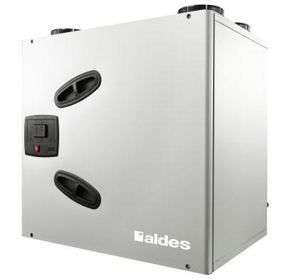 ALDES - Centrale VMC double flux Dee fly cube 550 Bypass été/hiver autoréglable. Garantie 2 ans. Maison de 250 m2 et plus - 400x400px