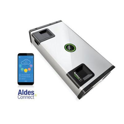 ALDES - Centrale VMC double flux et purificateur d'air INSPIRAIR HOME SC 370 PREMIUM droite. Garantie 2 ans. Maison jusqu'à 250 m2 - 400x400px