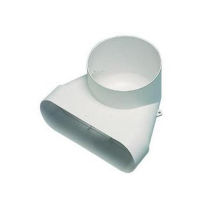 ALDES - Coude vertical 60x200 pour bouche Ø 125 - 400x400px