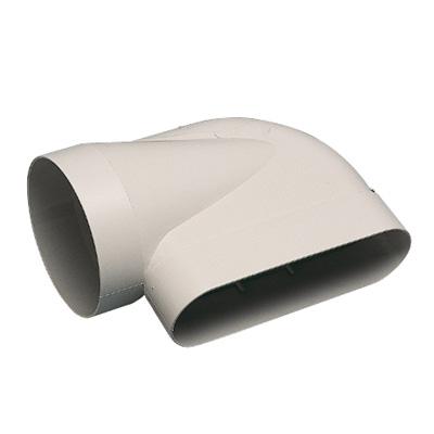 ALDES - Coude horizontal 60x200 pour conduit Ø 125 - 400x400px