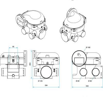 ALDES-KIT EasyHOME HYGRO CLASSIC + Bouches Bahia Curve à commande électrique ( 1 cuisine, 1 Bain et 1 wc).Prévoir 1 pile 9v pour la bouche cuisine et la bouche WC. - 400x400px