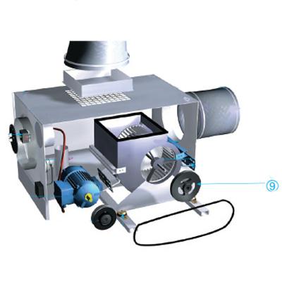 ALDES - Poulie réceptrice SPA AL25 pour VEC 321A et 321H  - 400x400px