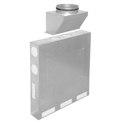ALDES - Optiflex Caisson métal plat 11 P D 160 - 400x400px