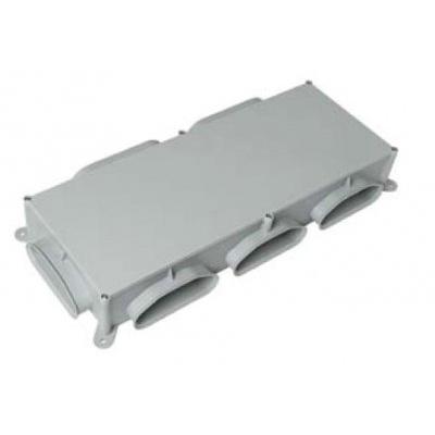 ALDES - Caisson de répartition plat Optiflex PE avec 5 piquages ovales Ø90 mm - 400x400px