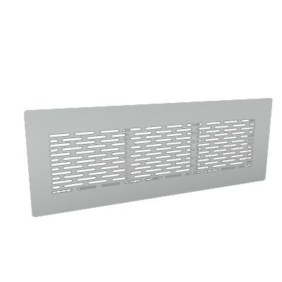 ALDES - Grille rectangulaire acier inox - 400x400px