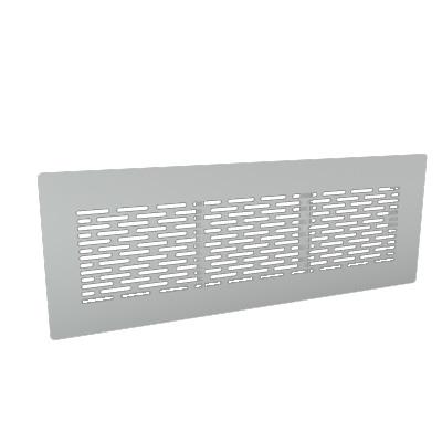 ALDES - Grille rectangulaire acier blanc - 400x400px