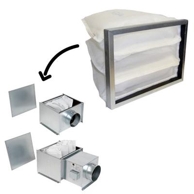 ALDES - Filtre G 4 à poches pour caisson préfiltre ou batterie de préchauffage - 400x400px