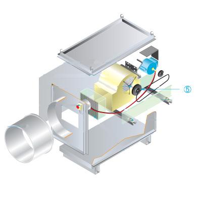 ALDES - Poulie réceptrice fixe TVEC 2 , A1 et A2 170/25 - 400x400px