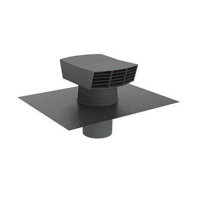 Anjos - Chapeau de toiture plastique  CTP  125  ardoise - 400x400px
