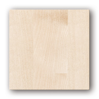 Plaque design ColorLINE collection Natural couleur Bois blanc, pour support de plaque ColorLINE Ø80 OU Ø125. - 400x400px