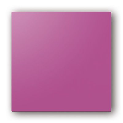 Plaque design ColorLINE couleur Fuschia, pour support de plaque ColorLINE Ø80 OU Ø125. - 400x400px