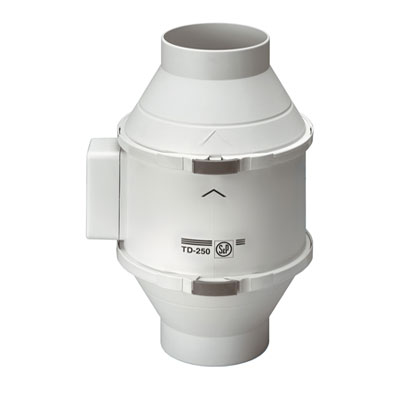Moteur de ventilation MIXVENT TD 250/100 ECOWATT Unelvent basse consommation pour hotte de cuisine non motorisée - Garantie 5 ans - 400x400px