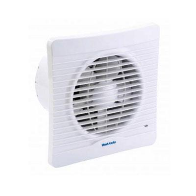 VENT-AXIA-Aérateur Svelte 150HT Ø150,détection d'humidité, M/A temporisé, garanti 5 ans,Position mur ou plafond, moteur basse consommation, utilisation WC ou bains.   débits d'air 200 ou 230 m3/h . 150x150px