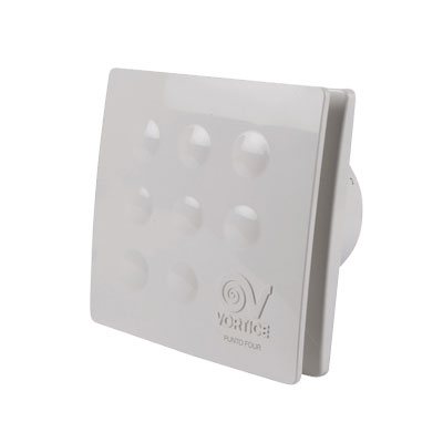VORTICE-extracteur individuel FOUR XR090 pour salle de bain ou WC.  débit d'air maxi 65 m3/h . 150x150px