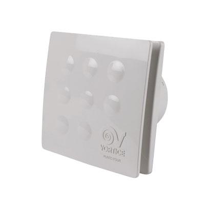 VORTICE-extracteur individuel à arret temporisé FOUR XRT090 pour salle de bain ou WC.  débit d'air maxi 65 m3/h . 150x150px