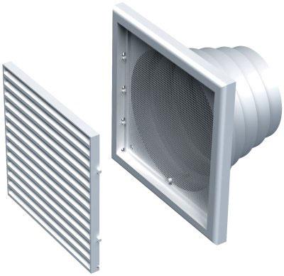 ALDES - grille de reprise ou rejet d'air en plastique GPA 186x186  150x150px