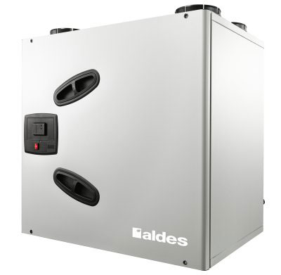 ALDES - Centrale VMC double flux Dee fly cube 550 Bypass été/hiver autoréglable. Garantie 2 ans. Maison de 250 m2 et plus 150x150px