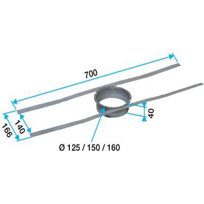 Fixation Ø 160 pour rejet sur tuile à douille - ALDES 11022047 150x150px
