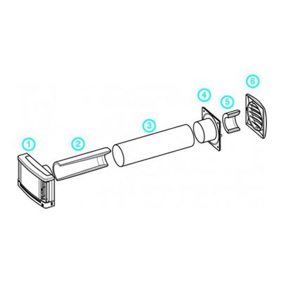 Tube Ø 100 longueur 350 mm pour traversé de mur - ALDES 11014121 150x150px