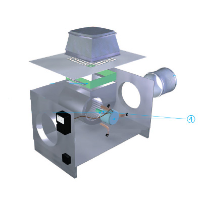 ALDES - Moteur + câble en silicone et condensateur de secours pour Mini-Vec A/B  - ALDES 11025089 150x150px