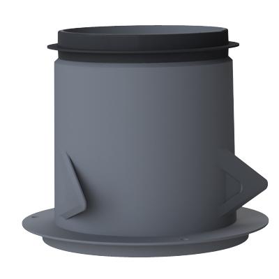 Anjos - Manchon métal pour cloison et plafond placo 3 griffes Ø 125 l= 100  150x150px