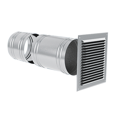 Anjos - Prise d'air façade Ø 150, pour la prise d'air neuf ou rejet d'air vicié dans les installations de VMC 150x150px