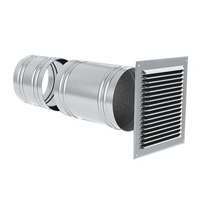 Anjos - Prise ou rejet d'air  Ø 200 grille extérieure aluminium 150x150px