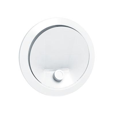ANJOS - Bouche BIR 125 Ø125 + manchon placo L=100 mm. Utilisation en soufflage d'air en VMC, climatisation et récupérateur de chaleur de cheminée. Débit d'air de 50 à 200 m3/h - UNELVENT 850749 150x150px