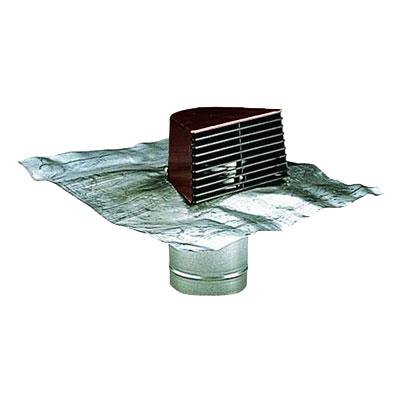 Sortie de toiture chatière brune avec plaque de plomb - ALDES 11022042 150x150px