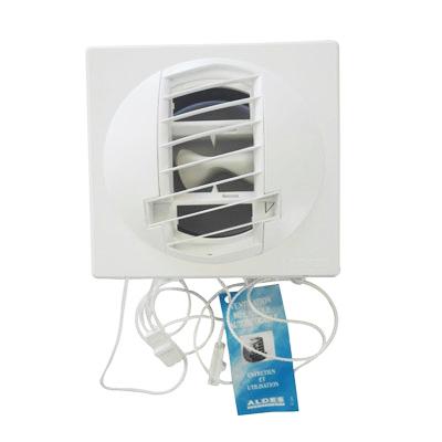 ALDES- Bouche d'extraction autoréglable BAP Color double débit d'air 45/120m3/h,Ø 125 , position mur ou plafond, pour cuisine appartement T4. - ALDES 11019140 150x150px