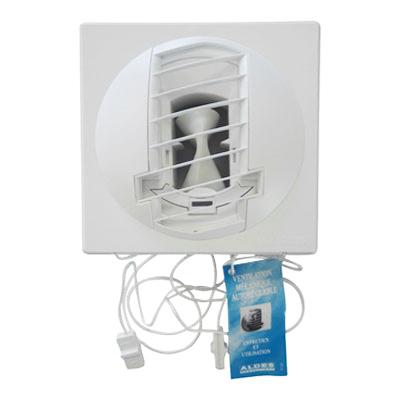 ALDES- Bouche d'extraction autoréglable BAP Color double débit d'air 45/135m3/h,Ø 125 , position mur ou plafond, pour cuisine appartement T5. - ALDES 11019141 150x150px
