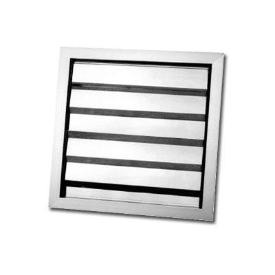 UNELVENT- Volet de suppression aluminium PER 200x200  largeur 200 mm Hauteur 200 mm - UNELVENT 872880 150x150px