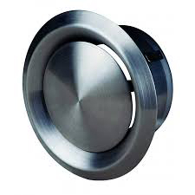 Bouche acier inox Ø200 avec manchette de raccordement utilisation reprise ou soufflage . 150x150px