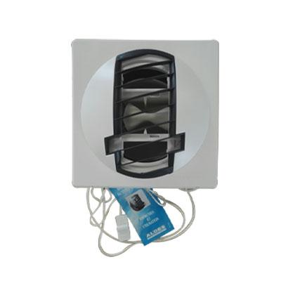 ALDES- Bouche d'extraction autoréglable BAP Color double débit d'air 30/90m3/h,Ø 116 , corps blanc grille grise, position mur ou plafond, pour cuisine appartement T2. - ALDES 11019233 150x150px