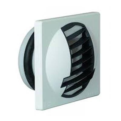 ALDES- Bouche d'extraction autoréglable BAP Color débit d'air 30m3/h, corps blanc grille grise,      Ø 116 mm pour salle de bain ou WC , position mur ou plafond, pour appartement. - ALDES 11019222 150x150px