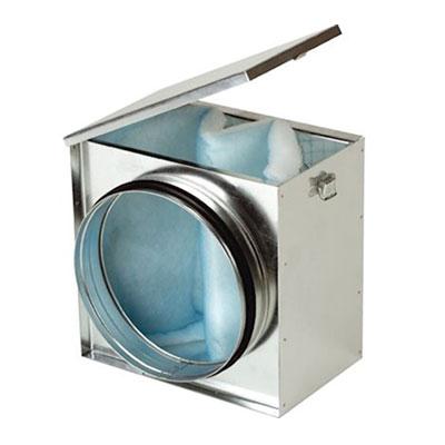 Caisson filtre G4, trappe d'accès au filtre, raccordement à joint Ø 160 mm - UNELVENT 973669 150x150px