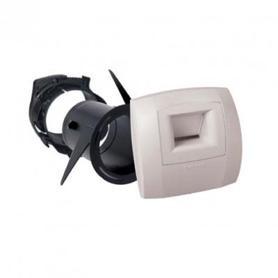 Kit bouche hygroréglable BAHIA Curve WC à détection de Présence W13 pour VMC Simple Flux Hygroréglable + 1 manchette ⌀ 80 mm + 1 raccord + collier EasyClip ⌀ 80 mm. Débit de base 5m3/h Débit de pointe 30m3/h, ALDES 11033661 150x150px