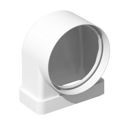 Unelvent - Conduit/accessoires PVC plats coude 90° rectangulaire/circulaire Ø 100mm CDM 200  55x110 - UNELVENT 833644 150x150px
