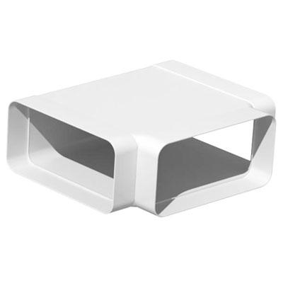 Unelvent - Conduit/accessoires PVC plats té horizontal rectangulaire THR 200  55x110 - UNELVENT 833161 150x150px