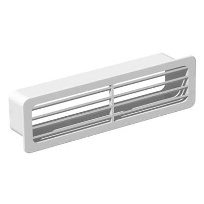 Unelvent - Conduit/accessoires PVC plats terminal de reprise/soufflage GER 300  55x220 - UNELVENT 833641 150x150px