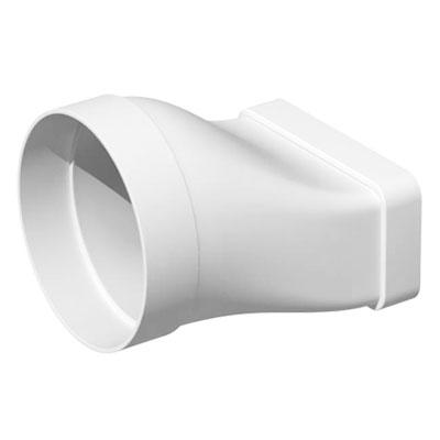 Unelvent - Conduit/accessoires PVC plats tranformation droite rectangulaire/circulaire MCM 80  40x110/80 - UNELVENT 832102 150x150px